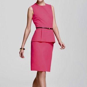 Calvin Klein Pink Peplum Dress